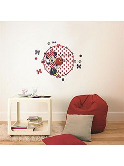 Red Minnie Mouse Clock Sticker