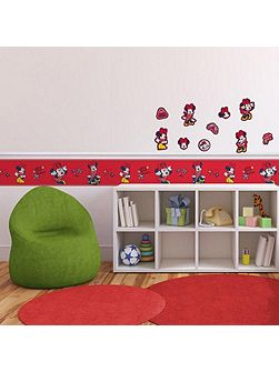 Red Minnie Mouse 10pc Foam Elements