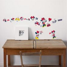 Red Minnie Mouse Small Wall Sticker