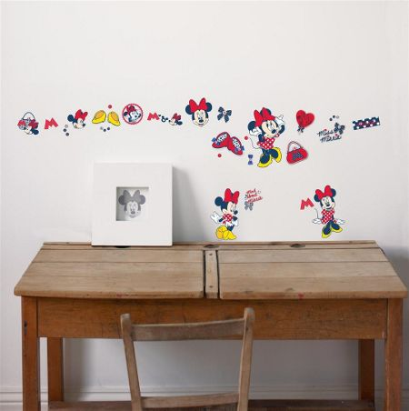 Graham & Brown Red Minnie Mouse Small Wall Sticker
