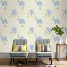 Graham & Brown Blue Mia Duck Egg Floral Wallpaper