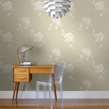 Graham & Brown Cream Mia Floral Wallpaper
