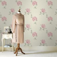 Graham & Brown Pink & Cream Mia Floral Wallpaper