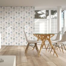 Graham & Brown Blue Sketch Floral Duck Egg Wallpaper