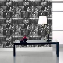 Graham & Brown Black & White New York City Scene Wallpaper