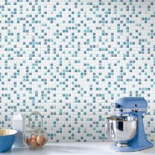 Graham & Brown Blue & White Check Kitchen & Bathroom Wallpaper