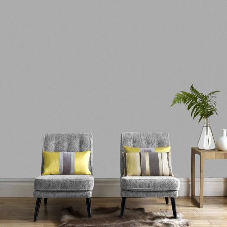 Graham & Brown Grey Aaron Plain Wallpaper
