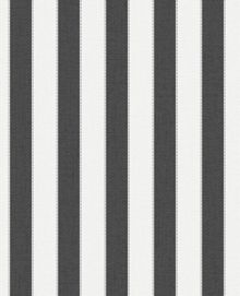 Graham & Brown Charcoal / White Ticking Stripe Wallpaper