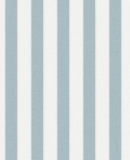 Graham & Brown Blue Ticking Stripe Wallpaper