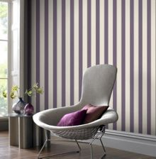 Thistle Ticking Stripe Wallpaper