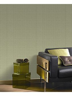 Graham & Brown Green Tweed Spring Green Wallpaper