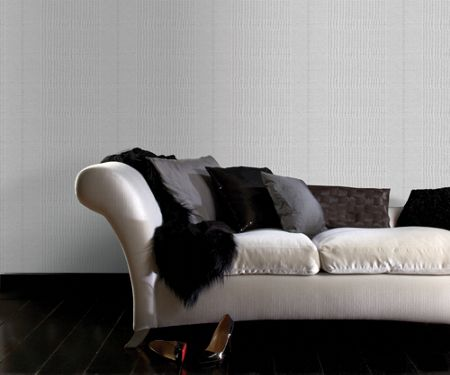 Graham & Brown Grey Tweed Soft Grey Wallpaper