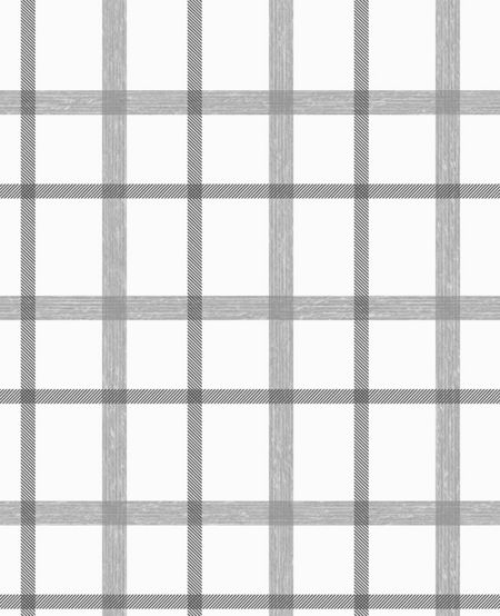 Graham & Brown Charcoal / White Plaid Wallpaper