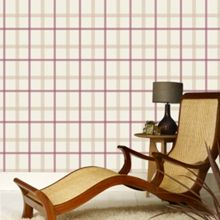Graham & Brown Russet Plaid Wallpaper