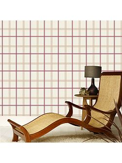 Russet Plaid Wallpaper