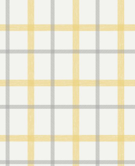 Graham & Brown Ochre Plaid Wallpaper