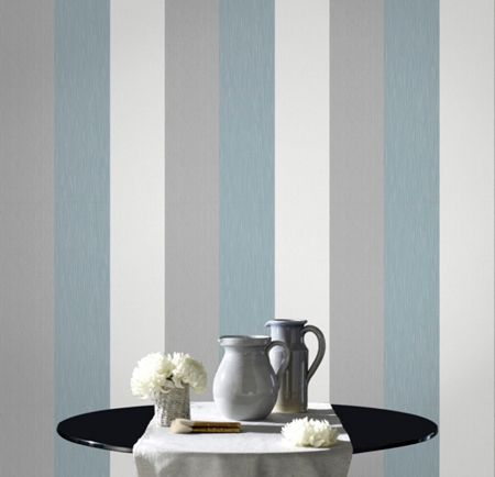 Graham & Brown Blue Java Stripe Wallpaper