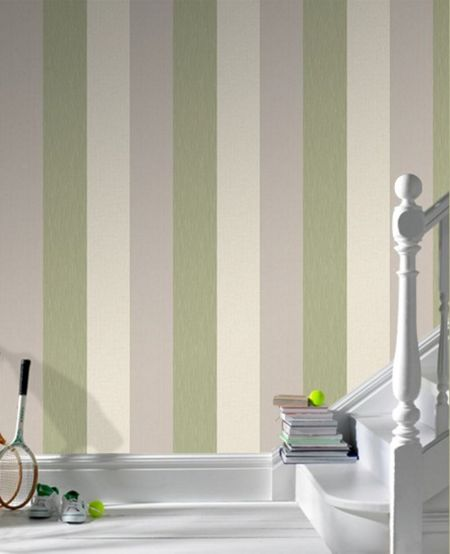 Graham & Brown Green Java Stripe Wallpaper