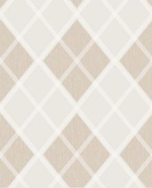 Graham & Brown Sand Argyle Wallpaper