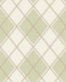 Graham & Brown Green Argyle Wallpaper