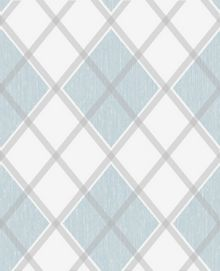 Graham & Brown Blue Argyle Wallpaper