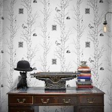 Graham & Brown Black and Whire Eccentric Wallpaper