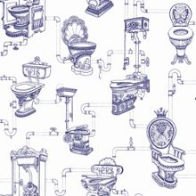 Blue Loo Loo Wallpaper