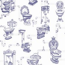 Graham & Brown Blue Loo Loo Wallpaper