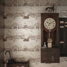 Gold Northern Toile Wallpaper