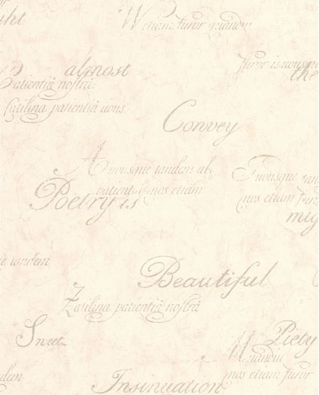 Graham & Brown Ivory Concrete Script Wallpaper