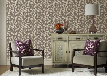 Graham & Brown Charcoal Capulet Wallpaper