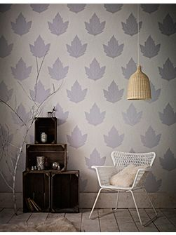 Lavender / Stone Maple Wallpaper
