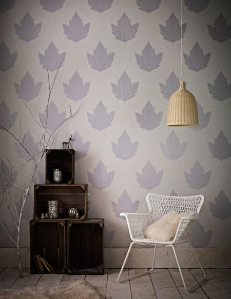 Graham & Brown Lavender / Stone Maple Wallpaper