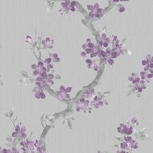 Plum / Grey Mercutio Wallpaper