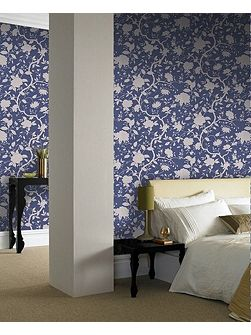 Blue Kelly Hoppen Botanic Wallpaper
