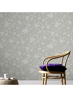 Taupe Kelly Hoppen Botanic Wallpaper