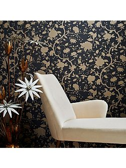 Charcoal Kelly Hoppen Botanic Wallpaper