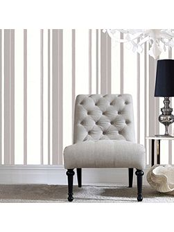 White Kelly Hoppen Stripe Wallpaper
