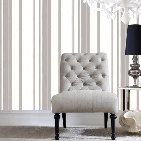 Graham & Brown White Kelly Hoppen Stripe Wallpaper