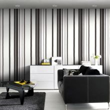 Black Kelly Hoppen Stripe Wallpaper