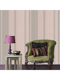 Taupe Kelly Hoppen Stripe Wallpaper