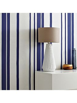 Blue Kelly Hoppen Stripe Wallpaper
