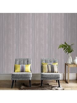 Soft Grey Kelly Hoppen Laddered Stripe Wallpaper