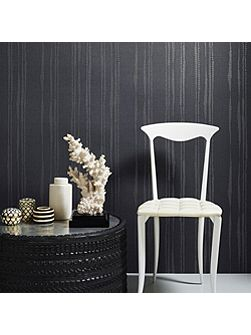 Midnight Kelly Hoppen Laddered Stripe Wallpaper