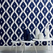 Graham & Brown Blue Kelly Hoppen Kelly`s Ikat Wallpaper