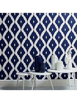 Blue Kelly Hoppen Kelly`s Ikat Wallpaper