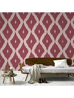 Red Kelly Hoppen Kelly`s Ikat Wallpaper