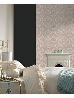 Moss Kelly Hoppen Vintage Flock Wallpaper