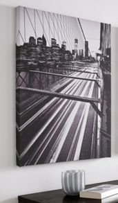 Graham & Brown Brooklyn Bridge Lights Printed Canvas