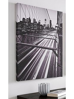 Brooklyn Bridge Lights Printed Canvas